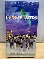 Sealed/ New Vhs Ghostbusters Rare Promotional Copy.