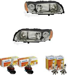 Halogen Headlight Set Volvo S60 01.05- H9/h7 With Motor Incl. Lamps 1380067