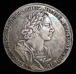 Russia Peter I The Great Rouble 1724 Au.