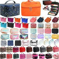 Women Large Make Up Bag Vanity Case Travel Cosmetic For Lady Organizer Portable $8.26