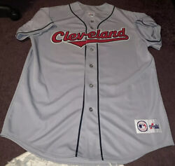 Official Mlb Baseball Majestic Genuine Cleveland Indians Away Jersey Mens Xl Use