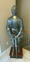6and039 Full Size Suit Armor Medieval Knight Marto Toledo Spain Fleur De Lis French