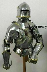 Medieval Knight Half Armor Suit Fully Wearable And Gothic Armor Suit