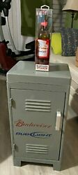 Budweiser Rolling Locker Cooler With Lower Storage And Bluetooth Speaker