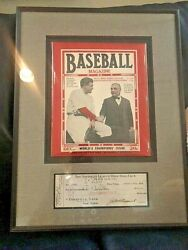 1923 Baseball Magazine Babe Ruth And Ruppert Signed Check By Ruppert And Ed Barrow