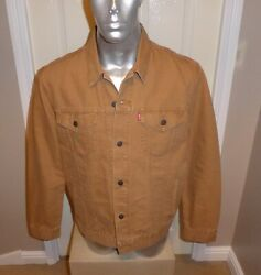 Bnwt Tan Canvas Trucker Jacket Xl Brand New With Tags Uk Stock