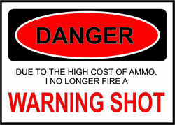 Warning Shot Sticker Ammo Pistol Airsoft Spring Rifle Scope Funny Security Cam