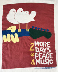 Vintage 90s 1994 Woodstock 2 More Days Peace Music White T Shirt Xl Very Rare