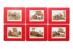 English Hunting Scene Placemats By Pimpernel - Set Of 6