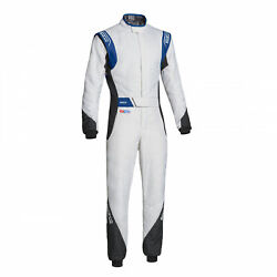 Eu Sparco Italy Eagle Rs-8.2 Racing Suit White - Blue Fia S 50