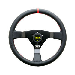 Top Omp Italy Wrc Leather Red Stitching Steering Wheel