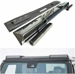 Mercedes-benz G-wagon W463 Brabus Style Carbon Front Spoiler With Leds Original