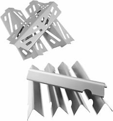 5-pack Flavorizer Bars And 3-pack Heat Plate Deflector For Weber, Gas Grill