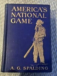 Baseball Book-1911 Americaand039s National Game By A.g. Spalding First Edition