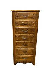 Ethan Allen Country French 7 Drawer Lingerie Chest Model 26-5314 Fruitwood