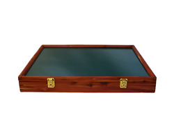 Cedar Wood Display Case 18 X 24 X 3 For Arrowheads Knifes Collectibles And More