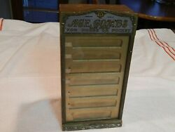 Vintage Wooden Ace Combs Store Display Case With 7 Inserts And 7 Drawers.