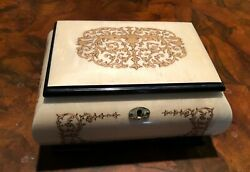 Beautiful And Heavy Italian Music Jewelry Box In Fantastic Condition