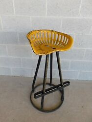 Vintage Iron Painted Tractor Seat Bar Stool