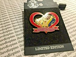 Belle And Beast Valentines Day 2004 Dlr Heart Le 1500 Original Card Disney Pin