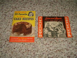 Lot Of 2 Vintage Cook Book Recipe Premiums From Old Radio Programs-1936 And 1952