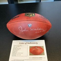 John Madden Hof 2006 Signed Oakland Raiders Nfl Game Issued Football Jsa Coa