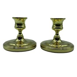 Set Of 2 Baldwin Brass Candle Sticks/candle Holders 3 Inches Tall
