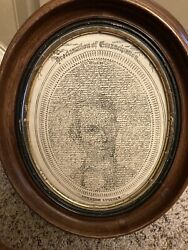 Alligraphic Portrait Of Lincoln. [broadside] Proclamation Of Emancipation. 1900.