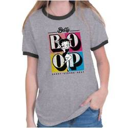 Betty Boop Sassy Strong Sexy Vintage Classic Womens Graphic Ringer T Shirts Tees