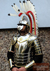 Medieval Hussars Suit Of Armor 17th Century With Wings