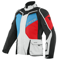Motorcycle Jacket Dainese D-explorer 2 Gore-tex White/blue/red - Size 48