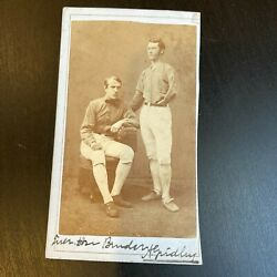 Civil War One Handed Baseball Player Signed Original 1860and039s Photo Albert Gridley