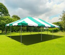 20and039 X 30and039 Pvc Weekender West Coast Frame Tent - Green And White - Party Event