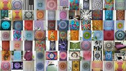 Indian Handmade Mandala Print Twin Size Assorted 100-pc Tapestry Room-bedspreads