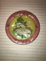 Antique Tin Toy Ohio Art Little Bo Peep Has Lost Her Sheep Plate Dints And Dings