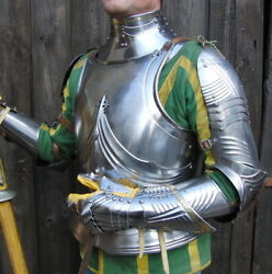 Medieval German Gothic Half Armor Suit In The Style Of Around 1485