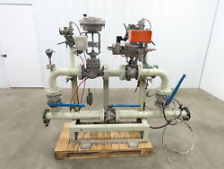 3 Flanged Pipe Valve Control Station Process Piping Bypass Valve