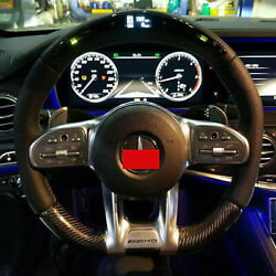 For Mercedes-benz 2019 Amg Theather Steering Wheel Carbon With Led Display