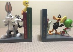 Looney Tunes Bookends - Very Rare Vintage - Bugs Bunny, Taz, Tweety, Daffy Duck