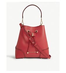 MICHAEL Michael Kors Mercer Gallery Convertible Bucket Leather Shoulder Bag Red $169.95