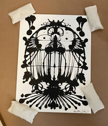 Timothy Curtis Inkblot Face No.105 Signed And Numbered Out Of 28 Prints Sold Out