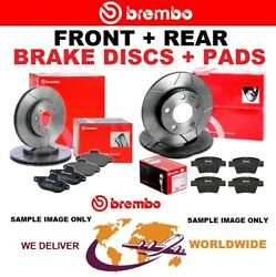 Brembo Front + Rear Brake Discs + Pads For Bmw 5 Touring F11 520d 2009-2014