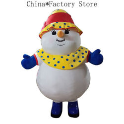 Christmas Inflatable Snowman Mascot Costume Cosplay Party Advertising Xmas