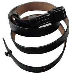 Wwii German Mp Leather Carry Sling-black Leather