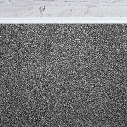 Super 20mm Thick Luxurious Silver Action Back Saxony 4m Wide Carpet Andpound48.99mandsup2
