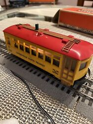 Lionel 60 Lionelville Trolley Runs Fwd And Back Vintage Yellow O Scale Train