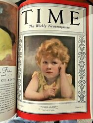 January 7, 1929 To June 24,1929 Bound Time Magazinenear Mint To Mint Condition