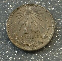 1925/3 10 Centavos Uncirculated Error/variety Silver Mexico Mint Key Date Coin