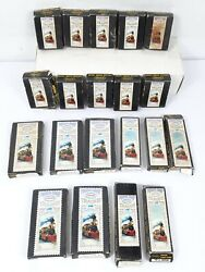 Vintage Lot Of 20 Aurora Postage Stamp Trains Empty Box Track Accessory, Switch