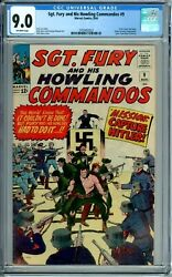 Sgt. Fury And His Howling Commandos 9 Cgc 9.0 Rare New Case Marvel Silver Age